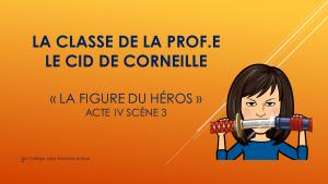 """5e Le Cid Acte IV sc 3               """"L'enquête du sens"""""""